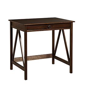Titian Antique Tobacco Laptop Desk