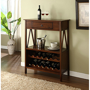 Titian Antique Tobacco Wine Cabinet