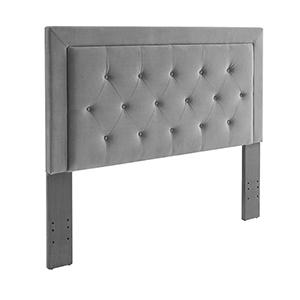 Clayton Dove Upholstered Full/Queen Headboard