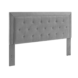 Clayton Dove Upholstered King Headboard