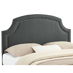 Regency Charcoal Upholstered Full/Queen Headboard