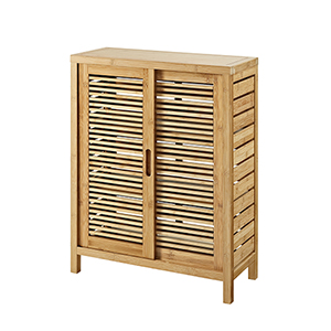 Bracken Natural Bamboo Bathroom Two Door Floor Cabinet