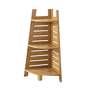 Bracken Natural Bamboo Bathroom Corner Shelf