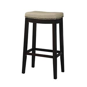 Hampton Dark Walnut 31-Inch Top Bar Stool