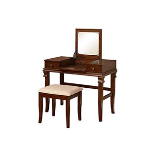 Aaron Walnut Vanity Set