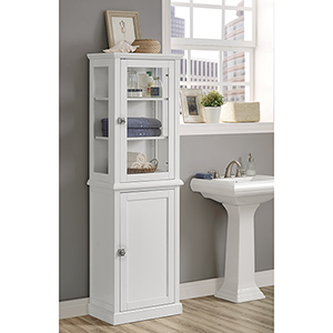 Scarsdale White Bathroom Tall Cabinet