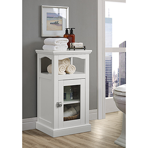 Scarsdale White Bathroom Demi Cabinet