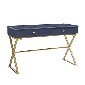 Blake Blue and Gold Desk