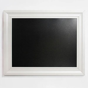 Bentwood Black and White 24 x 30 In. Chalkboard with White Frame
