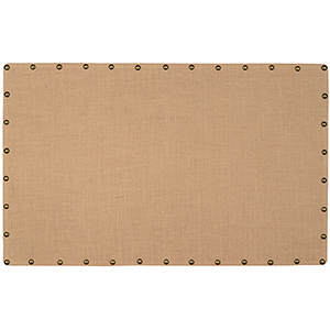 Burlap Brown and Bronze Large Nailhead Corkboard