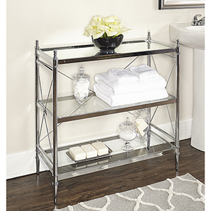 Pinnacle Chrome Bathroom Floor Console