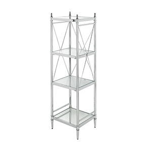 Pinnacle Chrome Bathroom Four Tier Shelf