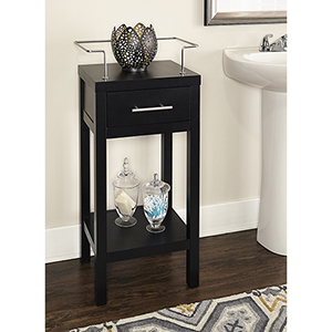 Hoover Black 16-Inch Bathroom Cabinet