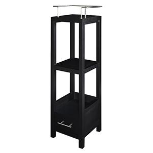 Hoover Black Bathroom Storage Cabinet