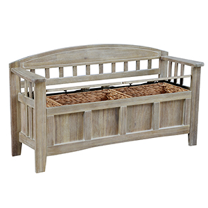Aria Natural Wash Storage Bench