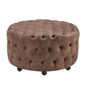 Hudson Round Rolling Ottoman