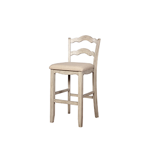 May White Wash 30-Inch Bar Stool