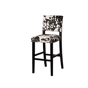 Clayton Black Cow 30-Inch Bar Stool