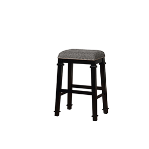 Kyley Black and White 31-Inch Bar Stool