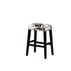 Walt Black Cow 31-Inch Bar Stool