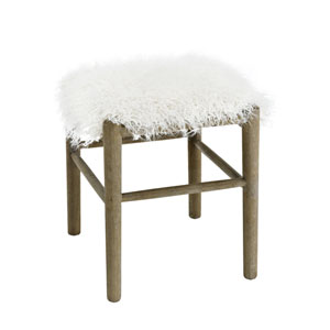 Charlotte Ottoman with Faux Fur