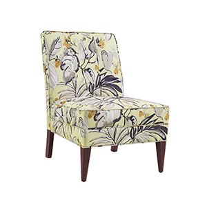 Carmer Floral Slipper Chair