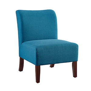 Julie Blue Back Slipper Chair