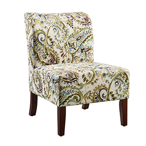 Julie Multicolor Paisley Back Slipper Chair