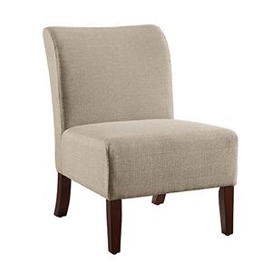 Julie Taupe Slipper Chair
