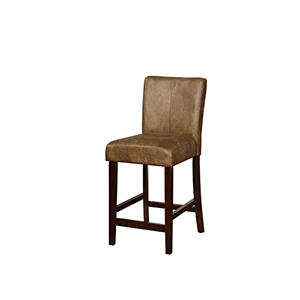 Miller Distressed Brown 24-Inch Counter Stool