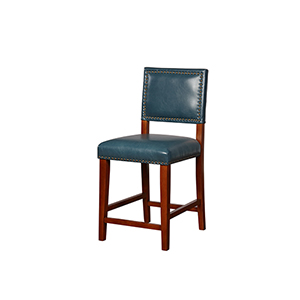 Blake Pacific Blue 24-Inch Counter Stool