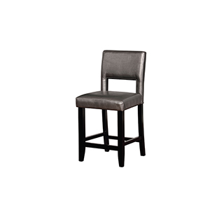 Velma Pewter 24-Inch Counter Stool