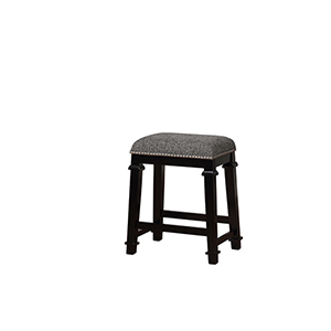 Kyley Black and White 25-Inch Counter Stool