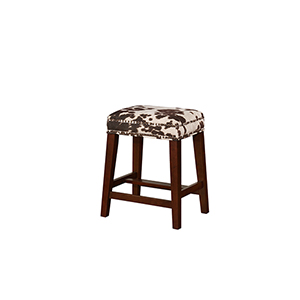 Walt Brown Cow 25-Inch Counter Stool