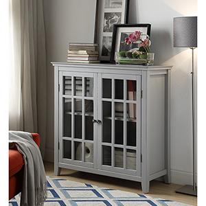 Ruby Gray Double Door Cabinet