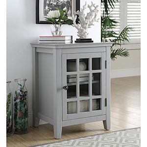 Leslie Gray Single Door Cabinet