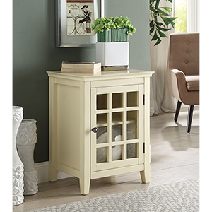 Leslie Pale Yellow Single Door Cabinet