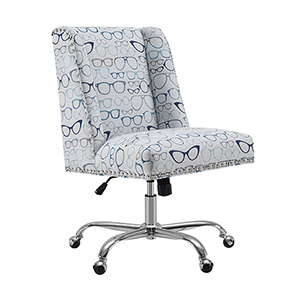 Dobby Blue Glasses Office Chair