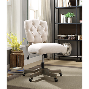 Kelsey White Office Chair