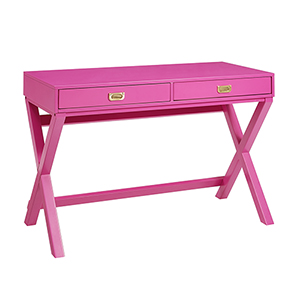 Paige Raspberry Pink Writing Desk