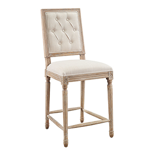 Avalon Linen 25-Inch Square Back Counter Stool