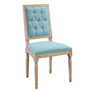 Avalon Blue 19-Inch Square Back Dining Chair, Set of Two