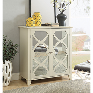 Winter Cream Large Cabinet with Mirror Door