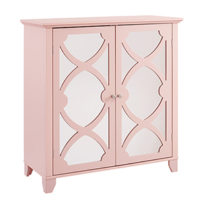 Rose Pink Large Cabinet with Mirror Door