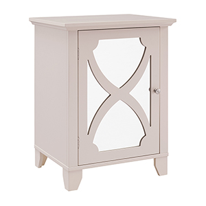 Cream Small Cabinet with Mirror Door