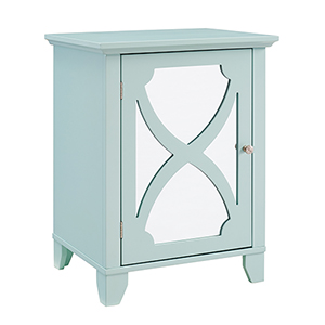 Seafoam Small Cabinet with Mirror Door