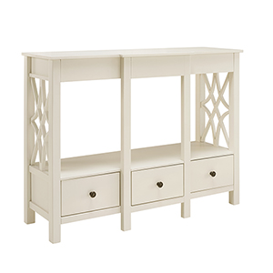 Whitley Antique White TV Stand