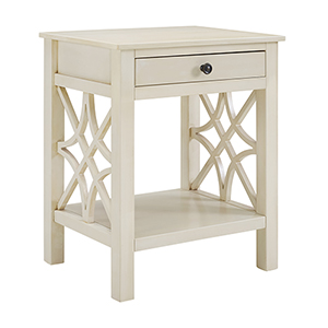 Whitley Antique White End Table