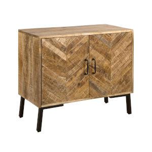 Livina Natural Mango Wood 36-Inch Two-Door Cabinet