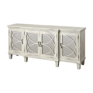 Marcella Aged White 72-Inch Four-Door Credenza